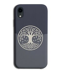 Celtic Style Tree Picture Phone Case Cover Nordic Theme Design Leaves Nature 002