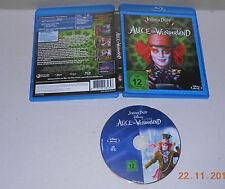 Blu Ray Disney Alice im Wunderland  ein Tim Burton Film m. Johnny Depp  sehr gut