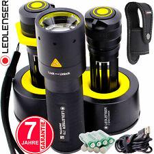 LED Lenser Akku Taschenlampe 2 Akkus Doppel-Ladestation 220 Lumen Hand Lampe NEU