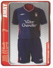 201 AWAY KIT ENGLAND NOTTINGHAM FOREST STICKER FL CHAMPIONSHIP 2010 PANINI