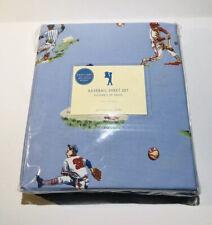 Pottery Barn Kids Vintage Vibes Baseball Sheet Set Twin Cotton