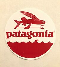 New Patagonia Red Flying Fish Circle Sticker 3 Inch, Hiking Outdoors Surfing FCD