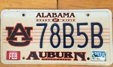 Auburn Tigers University Alabama License Plate Expired 3 yrs ago, Jan 2007