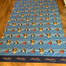 "Mario Kart DS Twin Flat Sheet 2010 Mario Brothers Nintendo Size 96"" x 66"""