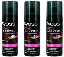 3x Syoss Ansatz Retoucher Ansatzspray, Haarfarbe-Spray Mahagoni,120ml NEU