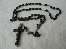 Ancien chapelet  XXeme , perles en bois , Marie