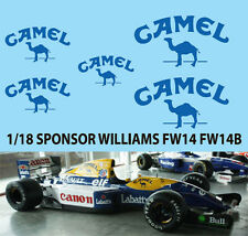 1/18 Camel Decal For Williams FW14 FW14B FW15 FW15C DECALS TB DECAL TBD74
