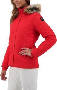 NWT $298!! Obermyer Women Ski Snowboard Tuscany 2 Jacket Coat Bright Red S 4