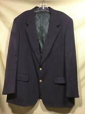 Burberry London Mens Wool Navy Blue Two Button Suit Jacket Blazer