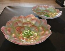 Decorative floral patterned glass candy dishes