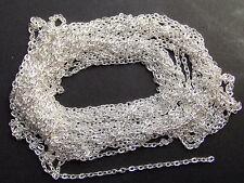 2mt di CATENA textured anelli rimagliabili 3x2mm colore argento