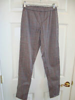 Esmara Gray w/Black & Red Plaid Design Cotton Stretch Legging/Pants S/M EUC