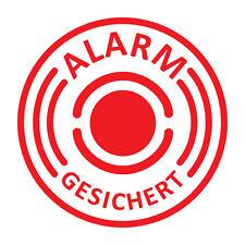 2 Stück Aufkleber Alarmgesichert, Alarmanlage, Auto  Ø 4cm innenklebend Art. 004