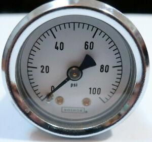 "Pressure dial gauge NOSHOK 1.5"" 0-100psi back mount CFF BSC PMC"