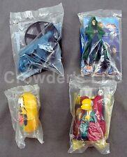 Lot of 4 Burger King Toys: Mr Burns, Dr Doom, Pluto & Transformers Helicopter