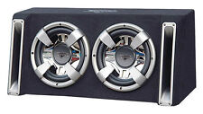 "New Lanzar Vchb212 Vector 2400 Watts Dual 12"" Slim Designed Bass Box Enclosure"