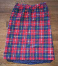 Pendleton Boyd Tartan Pleated Skirt Size 12~1970s Vintage