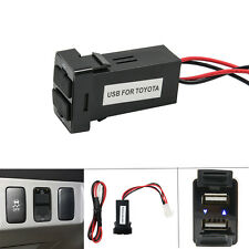 USB Charger Push Switch Panel Car For Toyota Tundra 4Runner RAV4 IPhone Samsung