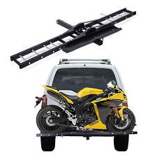 Motorcycle Scooter DirtBike Carrier Hauler Hitch Mount Rack Ramp Anti Tilt