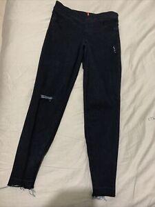 Spanx Black Large Distressed Jean