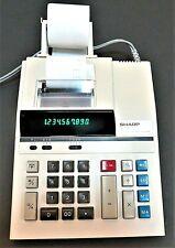 Sharp El-1197S Electric Printing Desktop Calculator 10-Digit W / Roll Of Paper