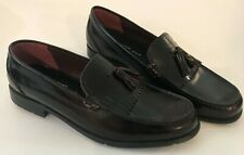 Rockport Men's Dark Brown Classic Leather Tassel Loafer Shoes Size US 11 M