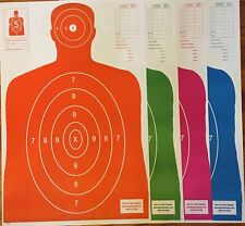 25 Each Of 4 Shooting Paper Targets Silhouette Gun Pistol Rifle B-27 Qty:100
