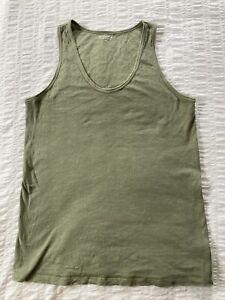 ATHLETA Organic Cotton Daily Tank Size Medium Tall Color Jade Green