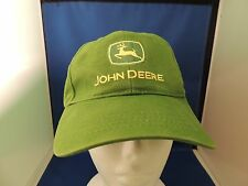 Trucker Buckle Cloth Cap Hat John Deere EUC One Size Green Farmer Adjustable