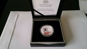 2021 RAM AUSTRALIAN REDBACK SPIDER $5 Coloured Silver Proof Coin #518/1000 ONLY