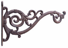 Swooping Vine Plant Hanger Cast Iron Decorative Flower Basket Hook