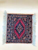 "Authentic Vintage Hand Knotted Turkish Wool Kilim Area Rug 11"" x 9.75"""