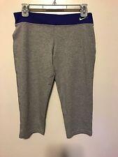 Nike Dri-Fit Girls Gray Capri Running Sweat Pants (Size XL) MSRP $35 NWT FS