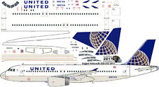 United Airbus A-320 decals for Revell 1/144 kit