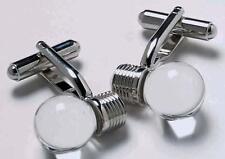 Mens Light Bulb Electrician Cufflinks & Gift Box By Onyx Art