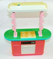 Barbie Oven Stove Top 12in Mattel 1990's Kitchen Range Doll Furniture Vintage