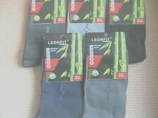 Men's Bamboo socks, sizes 7-9 or 9-11, 92% Bamboo,6% cotton,5 colours,small logo
