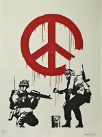 Banksy CND soldiers 240/350 signed high quality reproduction copy of original.