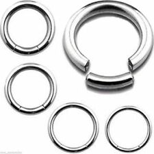 "Segment Captive Ring 16 Gauge 3/8"" Steel Body Jewelry"