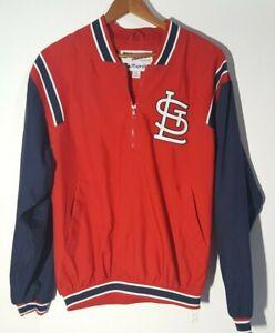 Vtg St Louis Cardinals Majestic Authentic Collection Medium  1/4 Zip Pullover