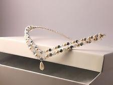Handmade swarovski wedding bridal forehead tiara circlet brow band FREE EARRINGS
