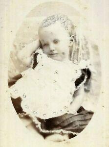 CDV Photo Post Mortem Child Posed Willetts Studio Ballarat Australia 1880s-1890s