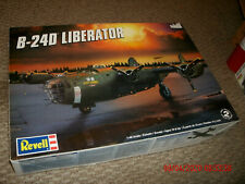 Revell 1/48 B-24 Liberator bomber model kit - started - no decals
