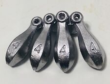 • 50 - 4-OZ  Hand Made Lead Bank Sinkers By A Do-It-Mold
