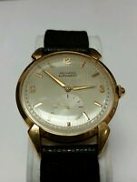VINTAGE MOVADO 18K YELLOW GOLD 17 JEWELS AUTOMATIC MENS WATCH