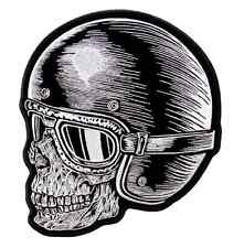 "Motorcycle Biker Uniform Patch  8"" X 9"" Z Rider Skull in Helmet"