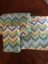 Pottery Barn Teen ~NEWPORT WAVE~ FULL Sheet Set POOL~ Beach CHEVRON ZigZag