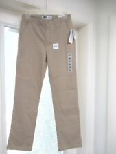 Nwt Old Navy Kids Boys Adjustable Waist Tan Straight Flex Uniform Pants Sz 16