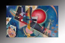 Dipinto olio su tela omaggio a kandinsky BLU prodotto italiano painting quadro