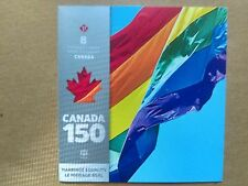 CANADA 150 Celebration, MARRIAGE EQUALITY Booklet of Eight Forever Stamps